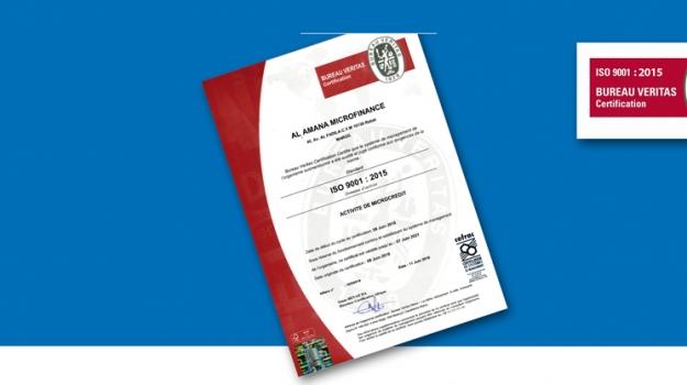 Al Amana Microfinance maintient sa Certification ISO 9001
