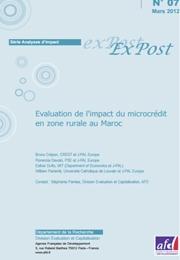 Évaluation de l'impact du microcrédit en zone rurale au Maroc-mars2012