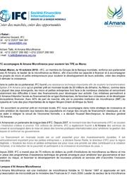 IFC accompagne Alamana Microfinance pour soutenir les TPE au Maroc
